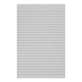 Lite Gray Lined Stationery