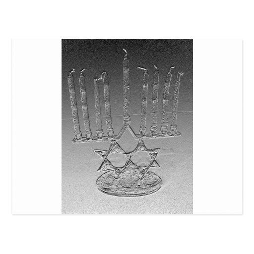 Lite the Chanukah candles Post Card