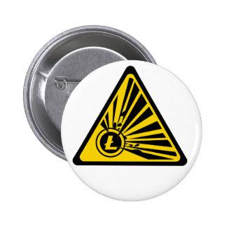 Litecoin Explosion Risk - 2¼ Inch Round Button