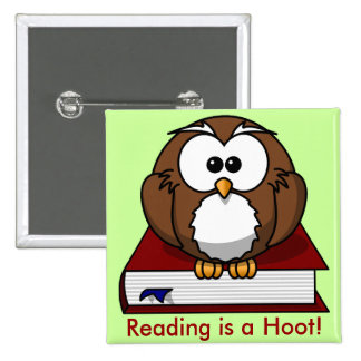 Literacy Awareness: Reading is a Hoot Pins