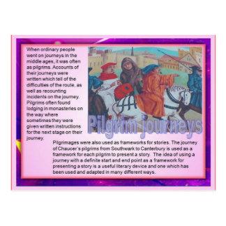 Literacy, travel writing, Pilgrim journeys Postcard