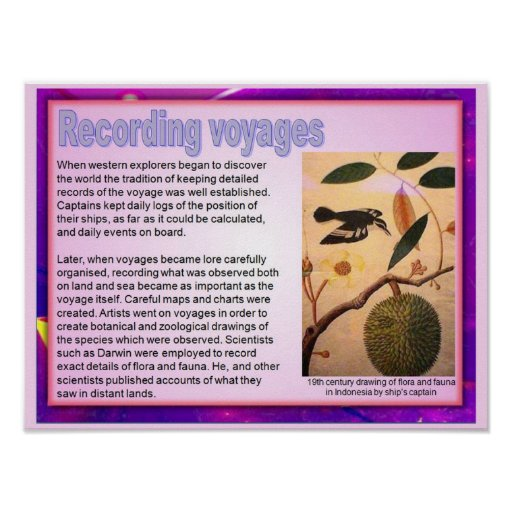 Literacy, travel writing, Recording voyages Posters