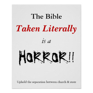 Literal Bible is a horror Print