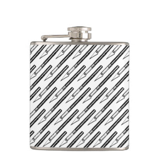 Literally Edgy - Exacto Knife Pattern Flask