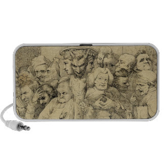 Literary Characters Assembled Around the Medallion Portable Speaker