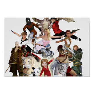 Literary Classics and Fictional Characters Dreamed Poster