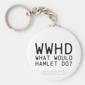 Literary Genius: Hamlet Question Basic Round Button Key Ring