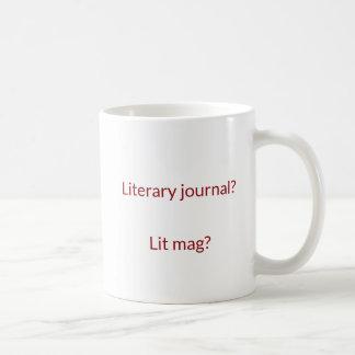 Literary Journal Vs Lit Mag Logo Mug