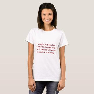 Literary Journal Vs Lit Mag Shirt