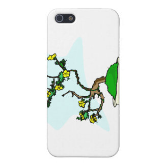 Literati bonsai yellow flowers in white pot graphi case for the iPhone 5