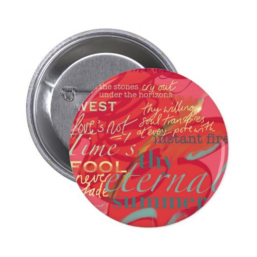 Literature Quotes Love Poetry Shakespeare Pink Button