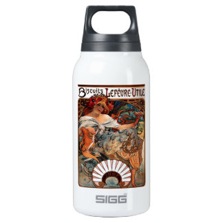 """Lithograph """"Biscuits Lefèvre-Utile"""" Insulated Water Bottle"""