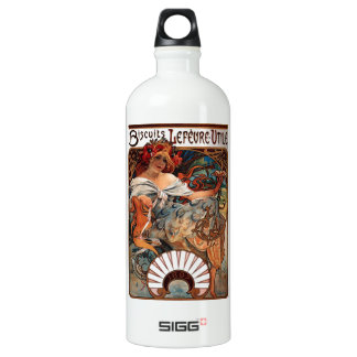 "Lithograph ""Biscuits Lefèvre-Utile"" Water Bottle"