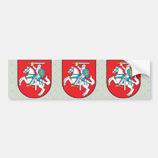 Lithuania Coat of Arms detail Bumper Sticker