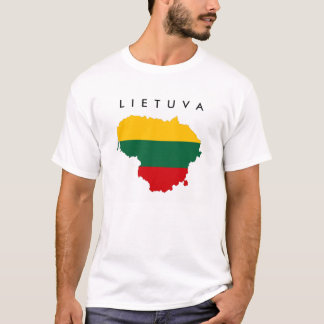 lithuania country flag map shape symbol T-Shirt