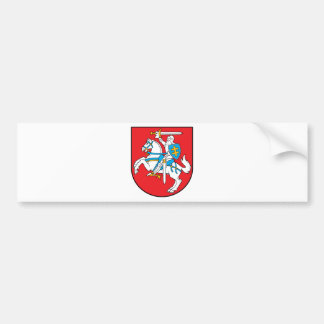 Lithuania Emblem - Coat of arms - Lietuvos Herbas Bumper Sticker
