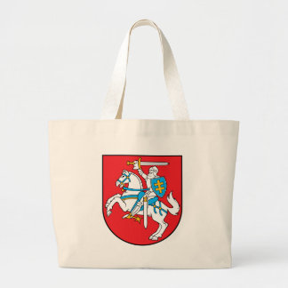 Lithuania Emblem - Coat of arms - Lietuvos Herbas Large Tote Bag