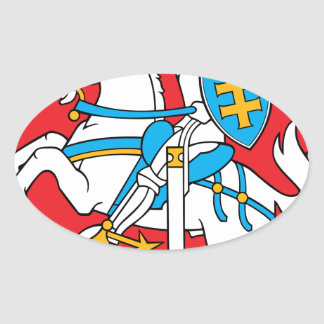 Lithuania Emblem - Coat of arms - Lietuvos Herbas Oval Sticker