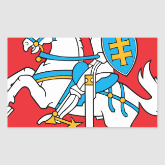 Lithuania Emblem - Coat of arms - Lietuvos Herbas Rectangular Sticker