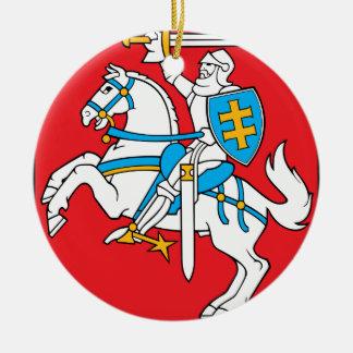 Lithuania Emblem - Coat of arms - Lietuvos Herbas Round Ceramic Decoration