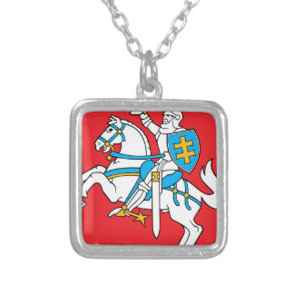 Lithuania Emblem - Coat of arms - Lietuvos Herbas Silver Plated Necklace
