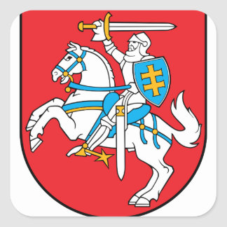 Lithuania Emblem - Coat of arms - Lietuvos Herbas Square Sticker