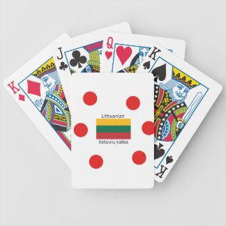 Lithuania Flag And Lithuanian Language Design Bicycle Playing Cards
