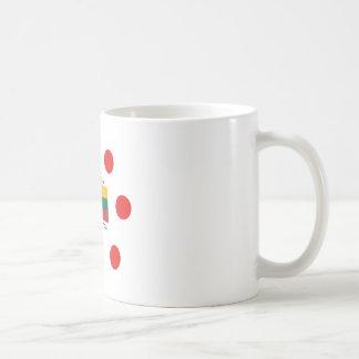 Lithuania Flag And Lithuanian Language Design Coffee Mug