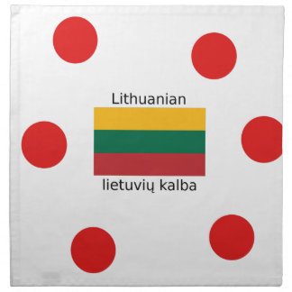 Lithuania Flag And Lithuanian Language Design Napkin