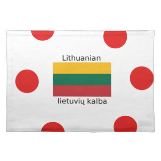 Lithuania Flag And Lithuanian Language Design Placemat