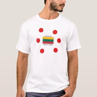 Lithuania Flag And Lithuanian Language Design T-Shirt