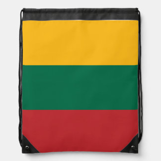 Lithuania Flag Drawstring Bag