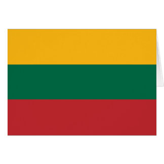 Lithuania Flag Note Card