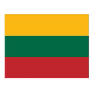 Lithuania Flag Postcard