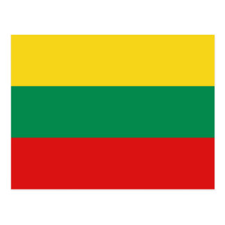 Lithuania Flag Postcard