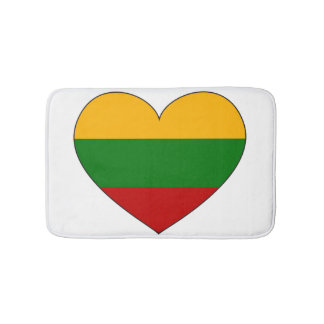 Lithuania Flag Simple Bath Mats