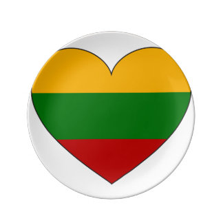 Lithuania Flag Simple Plate