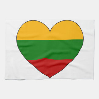 Lithuania Flag Simple Tea Towel