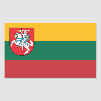 Lithuania Flag with Vytis Rectangular Sticker