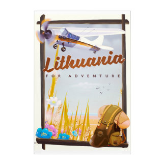 lithuania - For an adventure travel poster Acrylic Wall Art