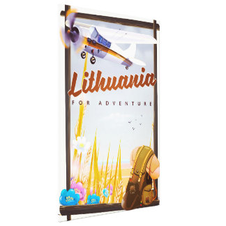 lithuania - For an adventure travel poster Canvas Print