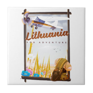 lithuania - For an adventure travel poster Ceramic Tile