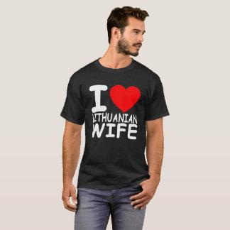 Lithuania I Love My Lithuanian Wife FUNNY t-shirt