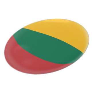 Lithuania, Lithuanian Red Green & Yellow Flag Plate