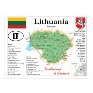 Lithuania map Postcard