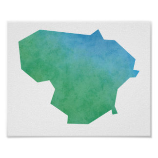 Lithuania Map Poster