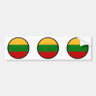Lithuania quality Flag Circle Bumper Sticker