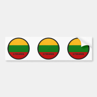 Lithuania Roundel quality Flag Bumper Sticker