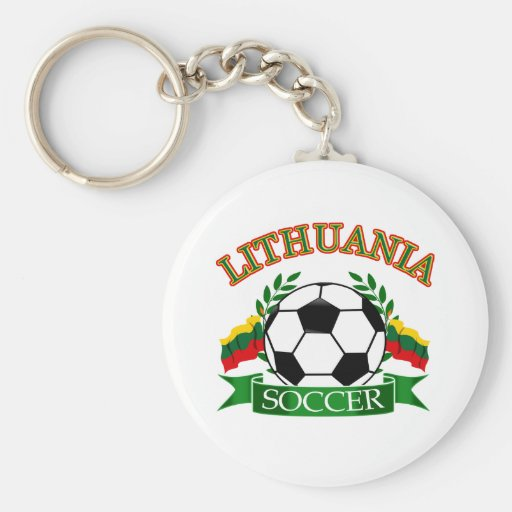 Lithuania soccer ball designs keychains