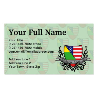 Lithuanian-American Shield Flag Business Card Template